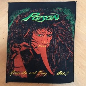 Other - Vintage Poison Back Patch ..perfect!